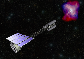Rappresentazione artistica dell'Imaging X-ray Polarimetry Explorer. Crediti: NASA
