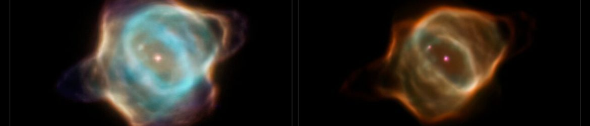 Archival data from the NASA/ESA Hubble Space Telescope reveal that the nebula Hen 3-1357, nicknamed the Stingray nebula, has faded precipitously over just the past two decades. Witnessing such a swift rate of change in a planetary nebula is exceedingly rare, say researchers. These images captured by Hubble in 1996 (left), when compared to Hubble images taken in 2016 (right), show a nebula that has drastically dimmed in brightness and changed shape. Bright blue shells of gas near the centre of the nebula have all but disappeared, and the wavy edges that earned this nebula its aquatic-themed name are virtually gone. The young nebula no longer pops against the black velvet background of the distant Universe.